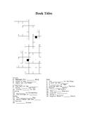 Book Titles Crossword