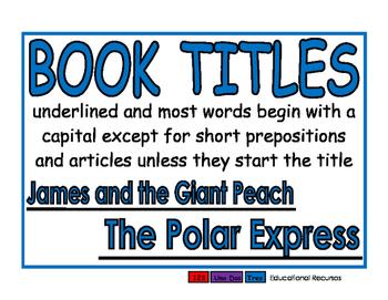 Book Titles blue