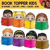 Book Topper Kids Clipart