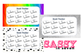 Book Trackers for 12 books (Rainbow, Glitter, and Polka dot)