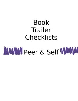 Book Trailer Checklist