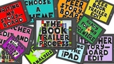 Book Trailer Process Board- a visual to help students in b