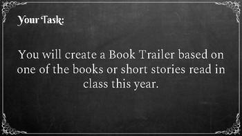 Book Trailer Project Slides Presentation