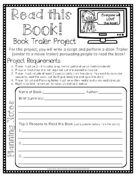Book Trailer Project: Students LOVE to Create a Trailer for a Book!