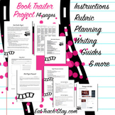 Book Trailer Project and Writing Reflection - Editable - Digital