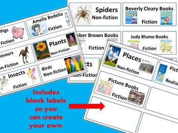 Book Tub Labels - Ready to Print - Fiction and Non-fiction