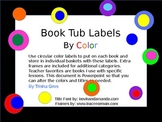 Book Tub Labels by Color