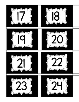 Book Tub Number Labels 1-32