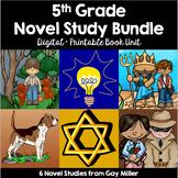 5th Grade Reading Level Novel Study Bundle Set 1