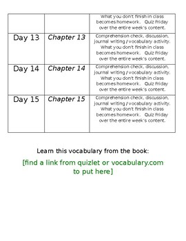 Book Unit Plan Template (WORD DOC)