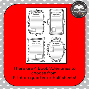 Book Valentines: Profess your love for reading!