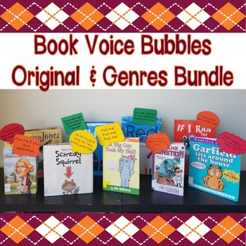 Book Voice Bubbles Bundle (Original & Genres) - Great for Classroom Libraries