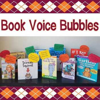 Book Voice Bubbles - Great for Classroom Libraries