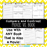 Movie Vs. Book Activities - Comparing Books and Movies - Chart, Questions, Essay