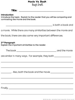 vs book activities comparing books and movies chart  movie vs book activities comparing books and movies chart questions essay