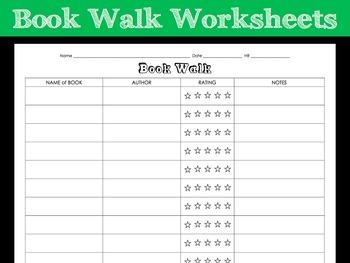 Book Walk Worksheet