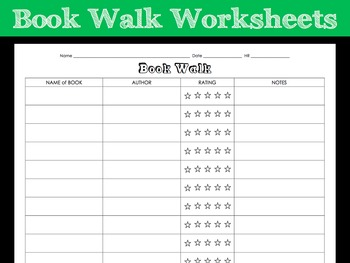 Book Walk Worksheet