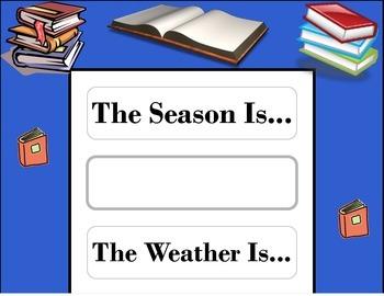 Book Weather Chart! Book Bulletin Board! Book Classroom Th