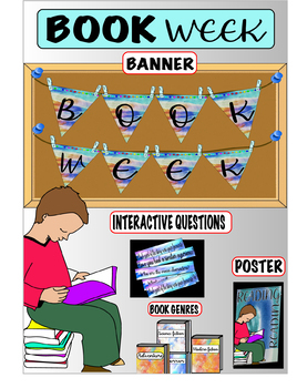 READING DECORATION BOOK WEEK- Display-Bulletin Board-Banner