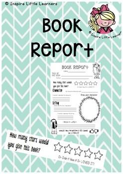 Book Week - Book Report Template