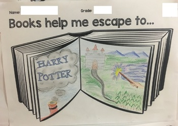 Book Week - Escape to Everywhere 2017 - Student poster activity