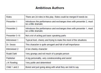 Book Week Playscript