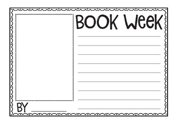 Book Week Writing Templates