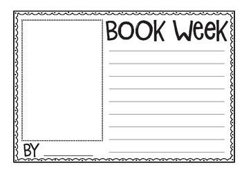 Book Week Writing Templates