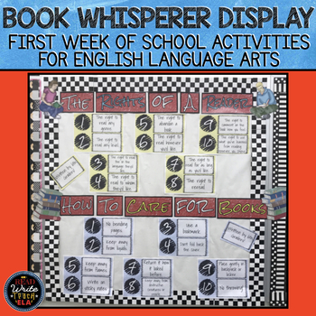 Book Whisperer: First Week of School Display/Bulletin Board and Activities