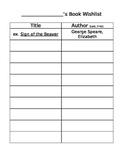 Book Wishlist