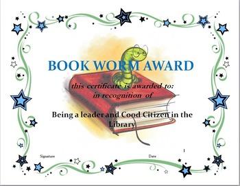Book Worm Award