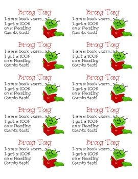 Book Worm Brag Tags
