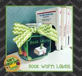 Book Worm Reading Reward Labels
