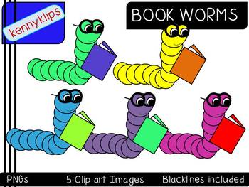 Book Worms Clip Art