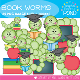 Book Worms - Clipart for Teachers and Classrooms