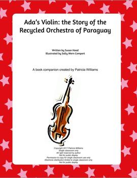 """Book activities for """"Ada's Violin: the Story of . . . of Paraguay"""