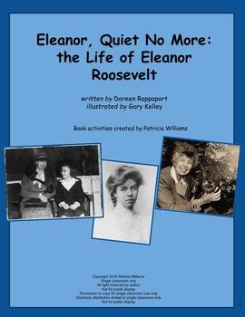 "Book activities for ""Eleanor, Quiet No More: the Life of Eleanor Roosevelt"""
