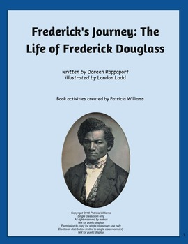 """Book activities for """"Frederick's Journey: The Life of Frederick Douglass"""""""