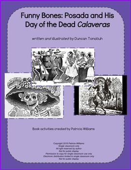 """Book activities for: """"Funny Bones: Posada and His Day of t"""