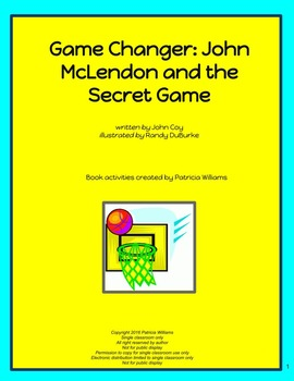 """Book activities for """"Game Changer; John McLendon and the Secret Game"""""""