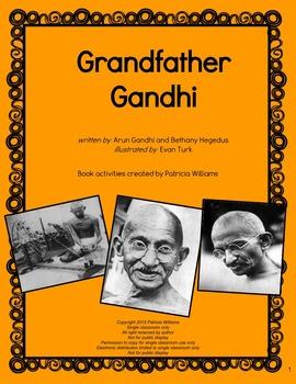 """Book activities for """"Grandfather Gandhi"""""""
