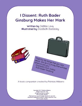 "Book activities for ""I Dissent: Ruth Bader Ginsburg Makes Her Mark"""