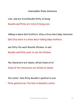 """Book activities for """"Knuckle & Potty Destroy Happy World"""""""