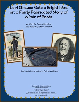 "Book activities for ""Levi Strauss Gets a Bright Idea"""