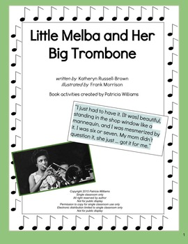 "Book activities for ""Little Melba and Her Big Trombone"""