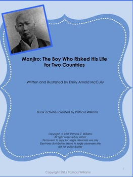 """Book activities for """"Manjiro: the Boy Who Risked His Life for Two Countries"""""""