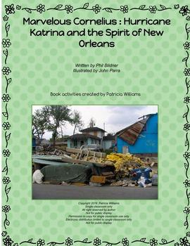 "Book activities for ""Marvelous Cornelius: Hurricane Katrin"
