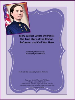 """Book activities for """"Mary Walker Wears the Pants"""""""