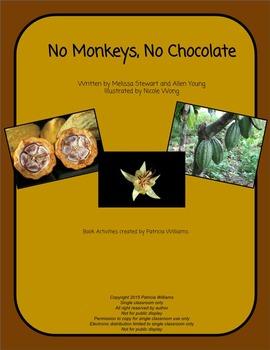 "Book activities for ""No Monkeys, No Chocolate"""