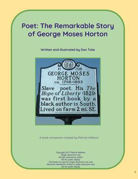 """Book activities for """"Poet: The Remarkable Story of George Moses Horton"""""""